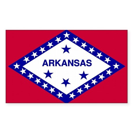 Arkansas State Flag Rectangle Sticker