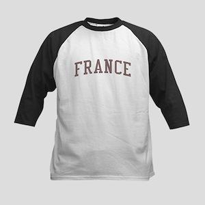 France Red Kids Baseball Jersey