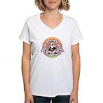 Buddha Women's V-Neck T-Shirt