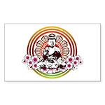 Buddha Rectangle Sticker 50 pk)