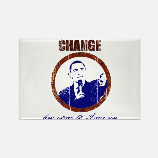 Obama Change Has Come Rectangle Magnet