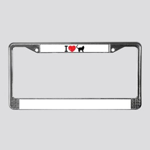 I love pussy License Plate Frame
