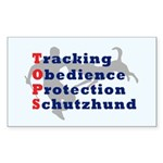 Schutzhund is TOPS Rectangle Sticker 10 pk)