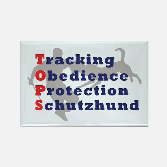 Schutzhund is TOPS Rectangle Magnet