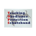 Schutzhund is TOPS Rectangle Magnet (10 pack)