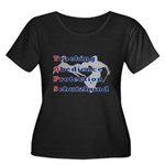 Schutzhund is TOPS Women's Plus Size Scoop Neck Da