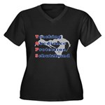 Schutzhund is TOPS Women's Plus Size V-Neck Dark T