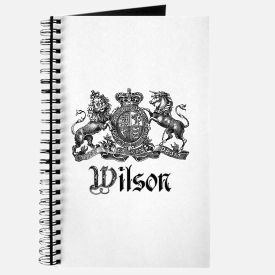Wilson Vintage Crest Family Name Journal