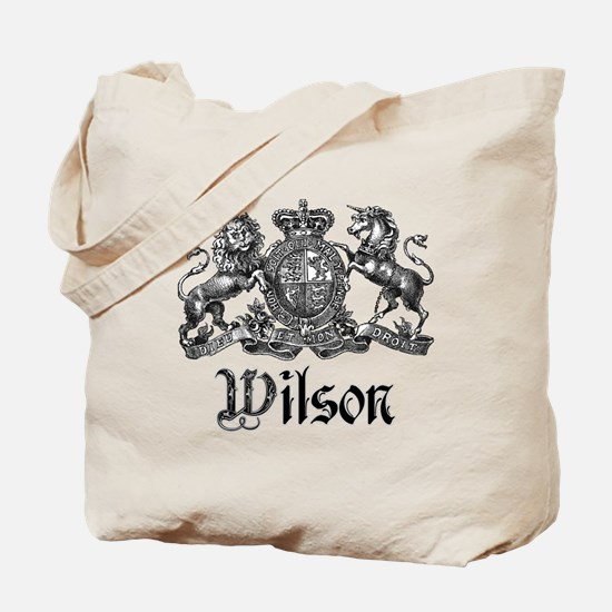Wilson Vintage Crest Family Name Tote Bag