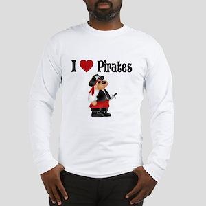 I Love Pirates Long Sleeve T-Shirt