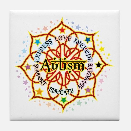 Autism Lotus Tile Coaster