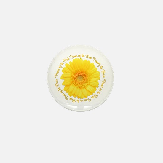 Yellow Daisy Bride's Friend Mini Button