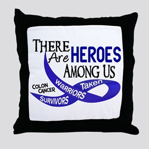 Heroes Among Us COLON CANCER Throw Pillow