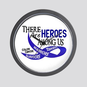 Heroes Among Us COLON CANCER Wall Clock