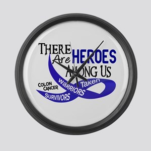 Heroes Among Us COLON CANCER Large Wall Clock