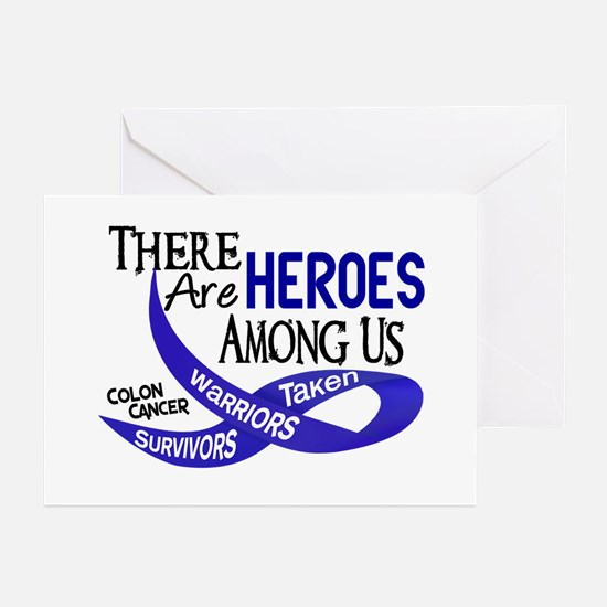Heroes Among Us COLON CANCER Greeting Cards (Pk of