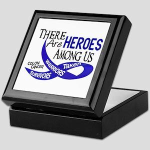 Heroes Among Us COLON CANCER Keepsake Box