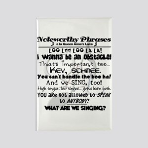 Noteworthy Phrases Rectangle Magnet