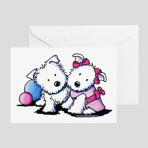 Westie Sweethearts Greeting Card