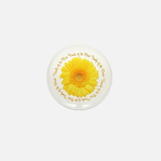 Yellow Daisy Bride's Family Mini Button