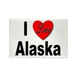 I Love Alaska Rectangle Magnet (10 pack)