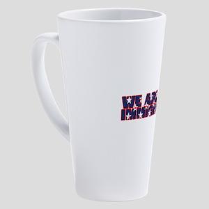 WE ARE ALL IMMIGRANTS. A Hapealo 17 oz Latte Mug