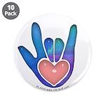Blue/Pink Glass ILY Hand 3.5