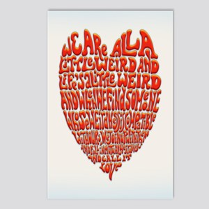 Love Is Weird Postcards (Package of 8)