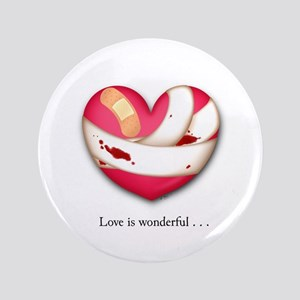"""Love is Wonderful 3.5"""" Button"""