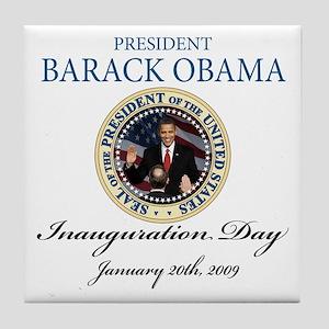 President Obama first black president Tile Coaster