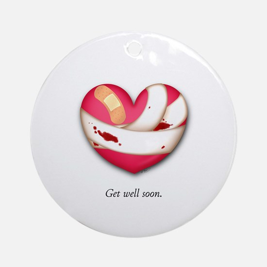 Get Well Soon Ornament (Round)