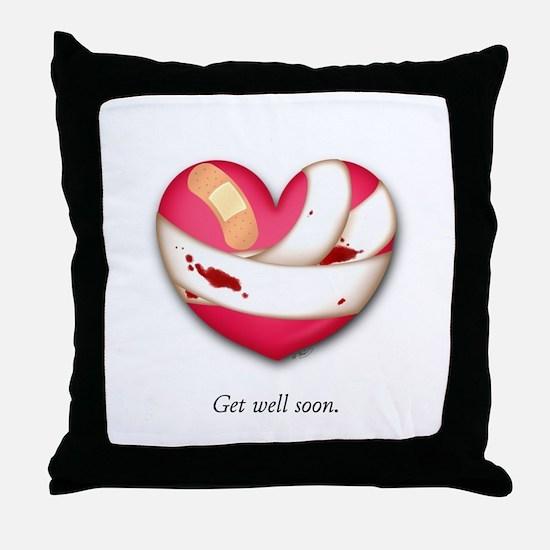 Get Well Soon Throw Pillow