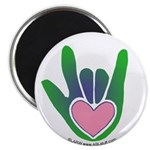 Green/Pink Heart ILY Hand 2.25