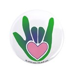 Green/Pink Heart ILY Hand 3.5