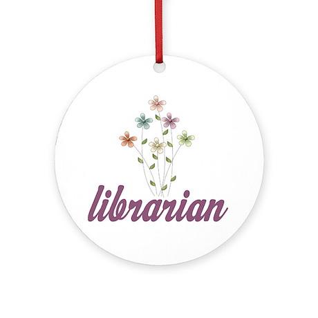 Pretty Librarian Ornament (Round)