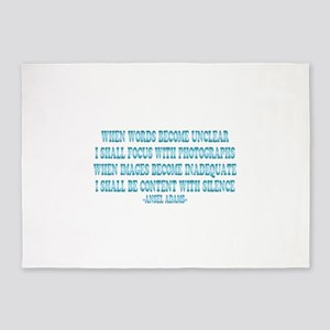 Ansel Adams Images And Words 5'x7'Area Rug