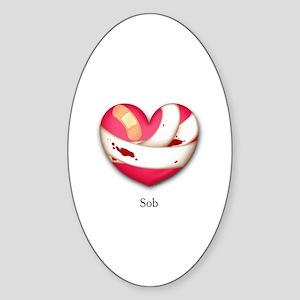 Sob Oval Sticker