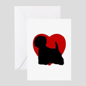 Westie Valentine's Day Greeting Card