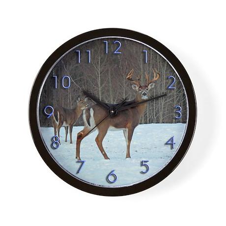 Buck & Doe Wall Clock