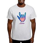 Blue Glass Love Hand Light T-Shirt