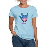 Blue Glass Love Hand Women's Light T-Shirt