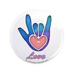 Blue Glass Love Hand 3.5