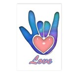Blue Glass Love Hand Postcards (Package of 8)