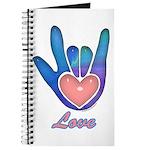 Blue Glass Love Hand Journal
