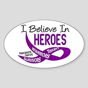 I Believe PANCREATIC CANCER Oval Sticker