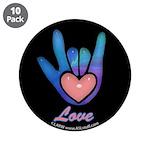 Blue Glass Love Hand Black 3.5