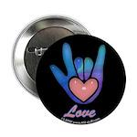 Blue Glass Love Hand Black 2.25