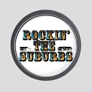 Rockin the Suburbs Wall Clock