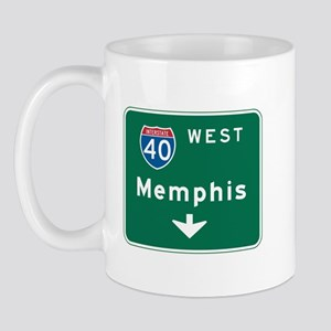 Memphis, TN Highway Sign Mug