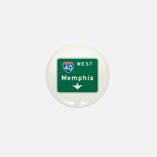 Memphis, TN Highway Sign Mini Button